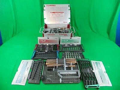 Synthes Cervical Spine Locking Plate Cslp Set Instrument Srews 1234 Level