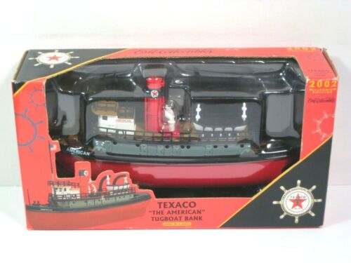 2002 Ertl Diecast Texaco The American Tugboat Bank 3rd In A Series Boat
