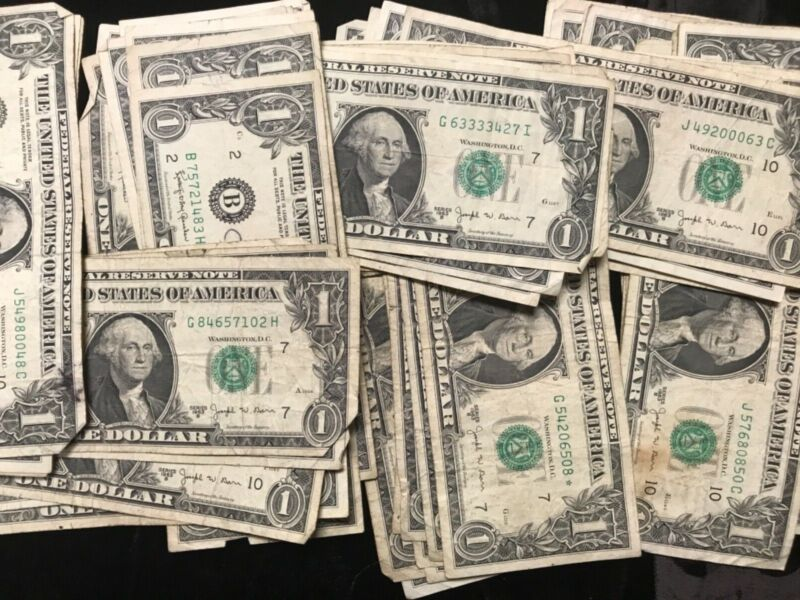1 (one) - 1963-B $1.00 Joseph W Barr Note * Circulated *