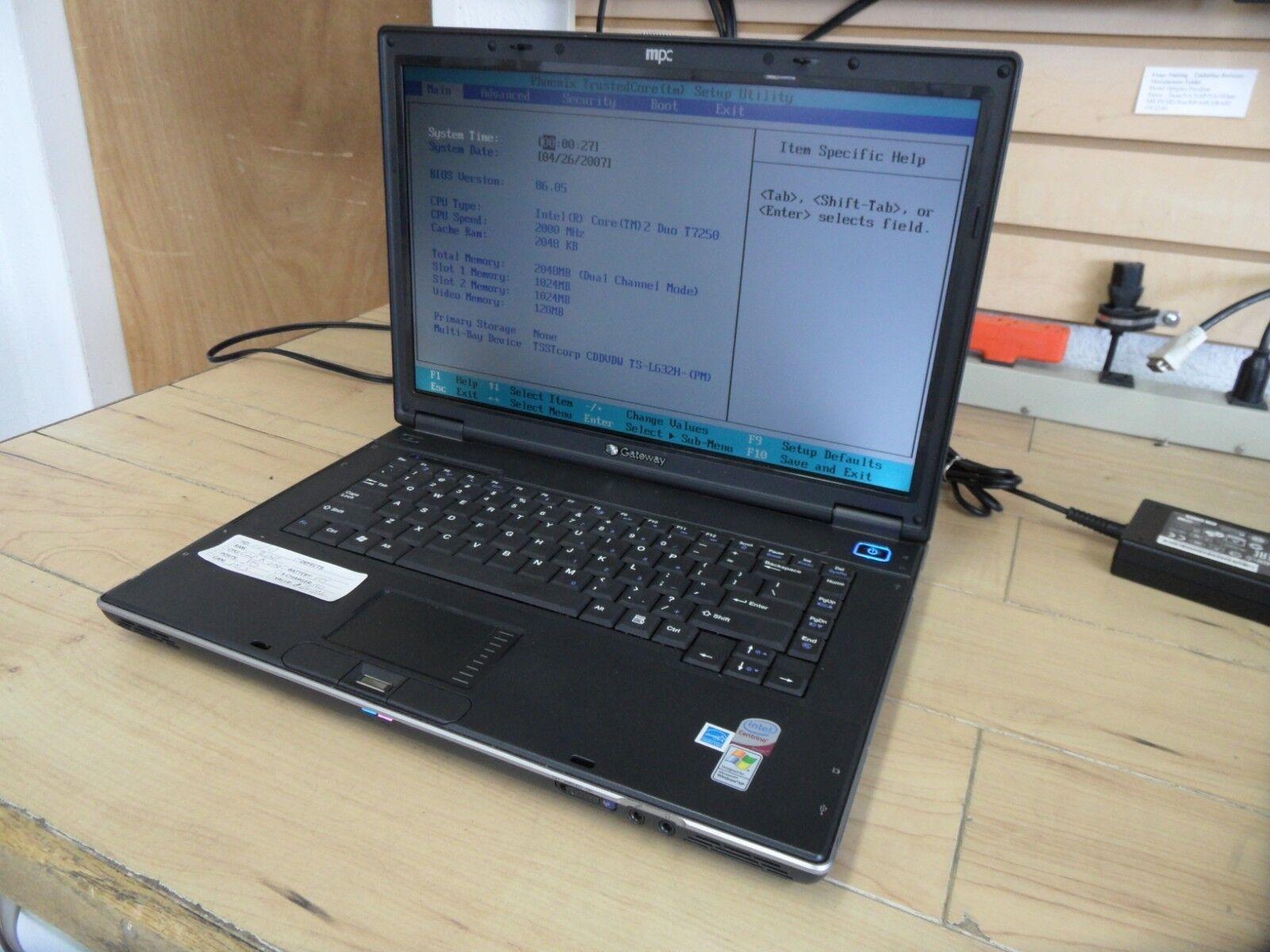 Gateway E-475M Laptop For Parts Posted Bios No Hard Drive Model QA1 *