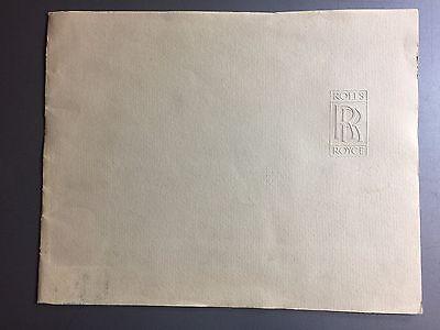1975 Rolls-Royce Full Line Showroom Advertising Large Folder RARE!! Awesome L@@K