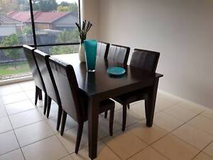 Hardwood Dining Table with 6 Seats
