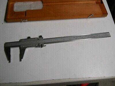 Starrett 123z-12  0-12  Master Vernier Calipers  Used In Wooden Case