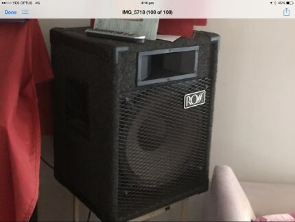 ROSS pro speakers excellent cond 2 of see photos