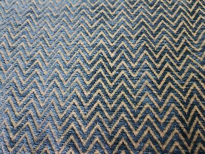 Lee Jofa chenille chevron cotton turquoise upholstery fabric 6yds