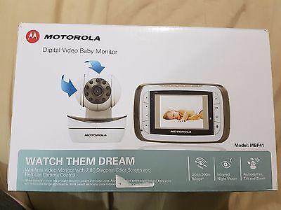 "Motorola MBP41 Remote Wireless Video Camera Baby Monitor 2.8"" LCD Night Vision 3"