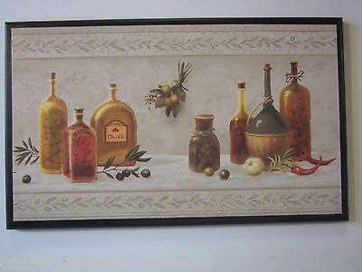 Olive Oil Kitchen Plaque, Italian or French Wall Decor Picture Tuscany style ()
