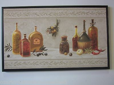 Olive Oil Kitchen Plaque, Italian or French Wall Decor Picture Tuscany style