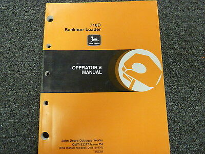 John Deere 710d Backhoe Loader Owner Operator Maintenance Manual Omt152277