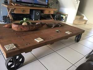 TV Unit & Coffee Table- Made from reconditioned railway sleepers Spring Hill Brisbane North East Preview