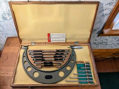 Mitutoyo 6-12 Inch Micrometer Set No 104-138 W Case Standards