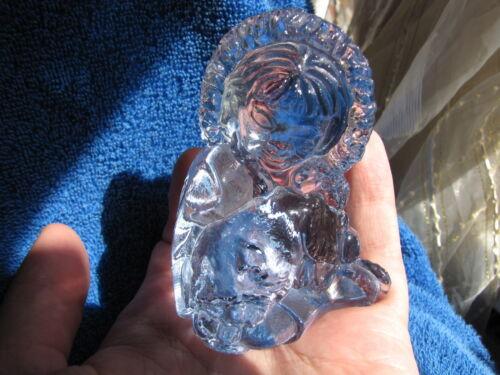 Kosta Boda Unicef Ewa Jarenskog Polar Arctic Eskimos w dog glass figurine figure