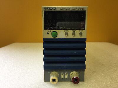 Kikusui Plz150u 1.5 To 150 V 30 A 150 W 10us Rise Dc Electronic Load Module