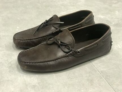 Tods Shoes Brown Leather Driving Shoes Loafers Size 6.5 Burswood Victoria Park Area Preview
