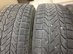 215/70R16 winter tires on rim
