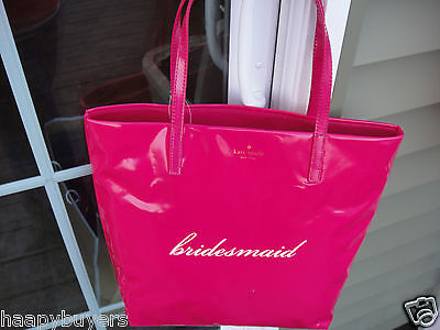 New With Tag Kate Spade Belles Bon Shopper Bridesmaid Tote Bag.100% Authentic