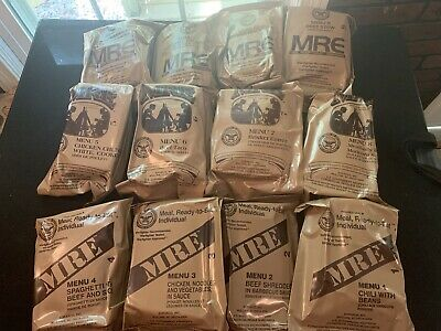 SOPAKCO MRE Single Meal Ready to Eat Menus 1-12 - Your Choice of 12 Options