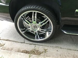 26 inch rims and tires chrome for GMC SUV