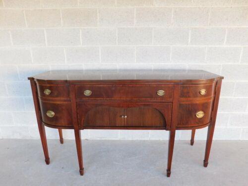 "Vintage Federal Style Mahogany Sideboard Buffet 68""W"