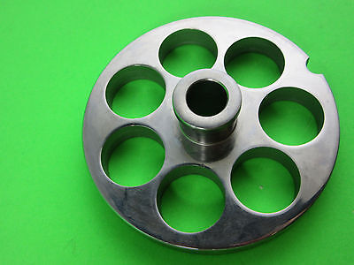 22 X 34 Meat Grinder Plate W Hub Stainless Fits Hobart Tor-rey Lem More