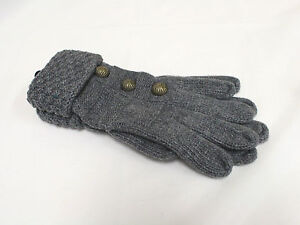 Women Ladies Winter Warm Vintage Knitted Wool Gloves Red Grey Black