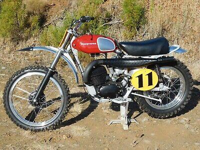 '71 Husqvarna HUSKY 250 CROSS TOTAL RESTO MX MotoCross Race Restored Super NICE!