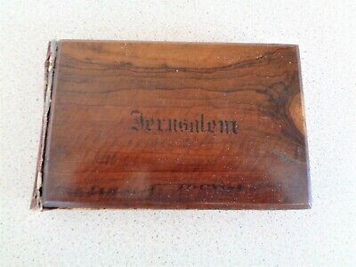 Antique Olive Wood Bound 'JERUSALEM' Book of Pressed Flowers of the Holy Land