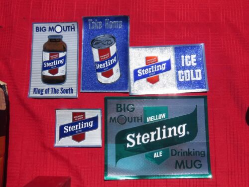 5 Different Sterling Beer Stickers / Decals