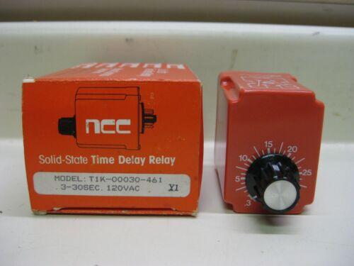 New NCC Ametek T1K-00030-461 0-30 Sec 120V Solid State Timer Time Delay Relay