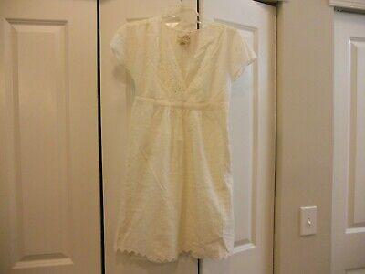 NWT DENIM & SUPPLY RALPH LAUREN 2 PIECE EMBROIDERED EYELET DRESS  IVORY SIZE 0 2 Piece Denim Dress