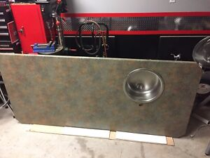 Countertop sink and faucet island