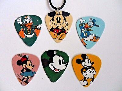 Disney Micky & Freunde Gitarre .71mm Auswahl Leder Halskette Sechs Zur