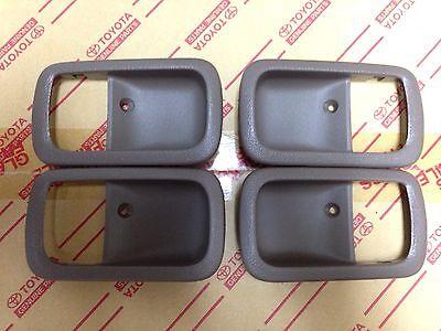 Used, Genuine OEM Toyota Land Cruiser 95-97 OAK Inner door handle bezels full set for sale  Seattle