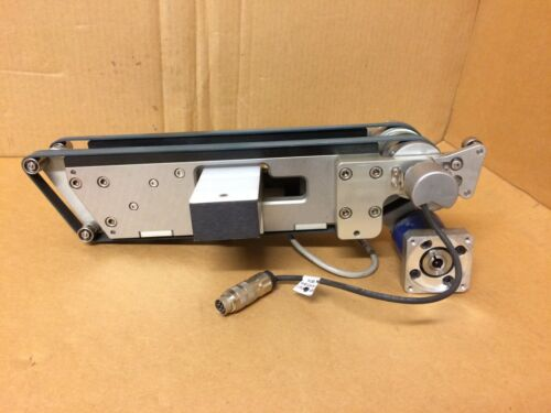 Mini Twin Belt Conveyor w/ Heidenhain Encoder & Vitronic Background Light