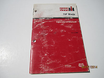 Case Ih 72f Blade Operators Manual-tractor 275245255