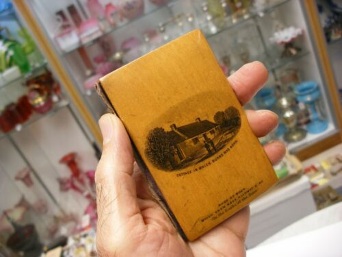 Antique Sewing Notions Mauchline Ware Needle Packet - Alloway Kirk Burns Cottage