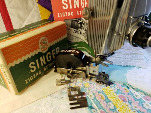 Singer ZigZag Attachment 160620 ~ Featherweight 221 Stitch Tested ~ Complete!