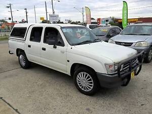 2000 Toyota Hilux 3.0L DIESEL DUAL CAB WHITE 4D UTE Lansvale Liverpool Area Preview