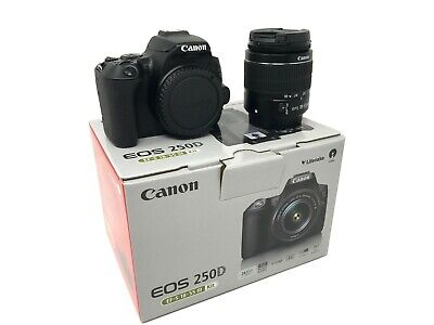 Canon EOS 250D DSLR Camera with EF-S 18-55 mm f/3.5-5.6 III Lens UK NEXT DAY DEL