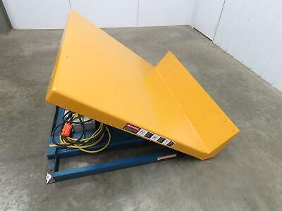 Vestil Hydraulic Lift Tilt Table 4000lb 48 X 48top Tilts 45 Box Tipper 3ph