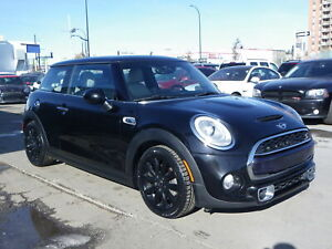 2014 Mini Cooper S TURBO/LOADED/HUD/GPS/B.CAM/LEATHER/PANO-ROOF