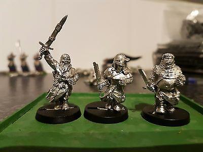 Warhammer fantasy age of sigmar Bretonnian Grail Pilgrims x3 Metal Rare Oop lot1