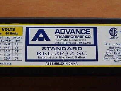 Advance Standard Rel-2p32-sc 120v 60hz T8 Ballast - 2 Lamp Pre-owned