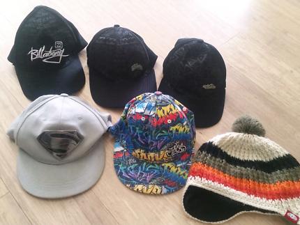 Boys hats bulk lot. Jacks, billabong