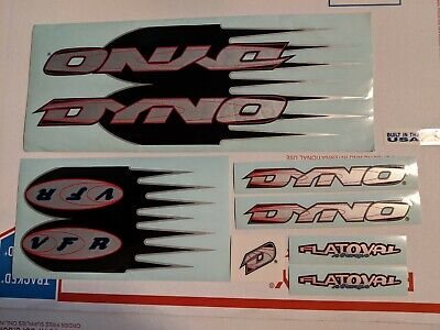 DYNO Slammer  BMX BIKE Bicycle Decals 10 Stickers Black Red White On Clear