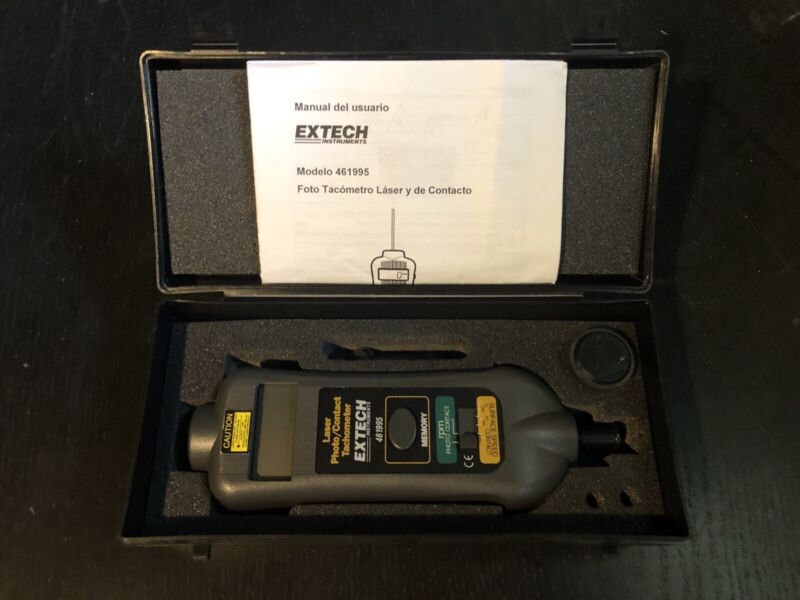 Extech 461995 Laser Photo / Contact Tachometer - Used, Works