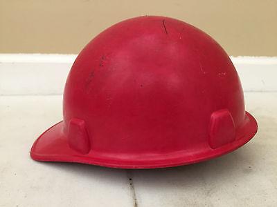 Msa Red Glass Fiber Ii Fiberglass Construction Hard Hat Skullgard 1969 Ansi Cert