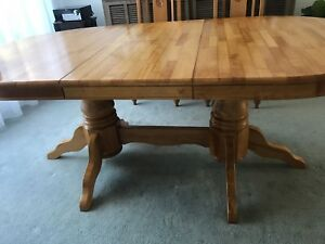 Solid Timber Dining Table and 6 Chairs.