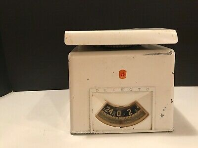 VINTAGE DETECTO Kitchen weight Scale 25 lb Brooklyn New York USA 1950's Works