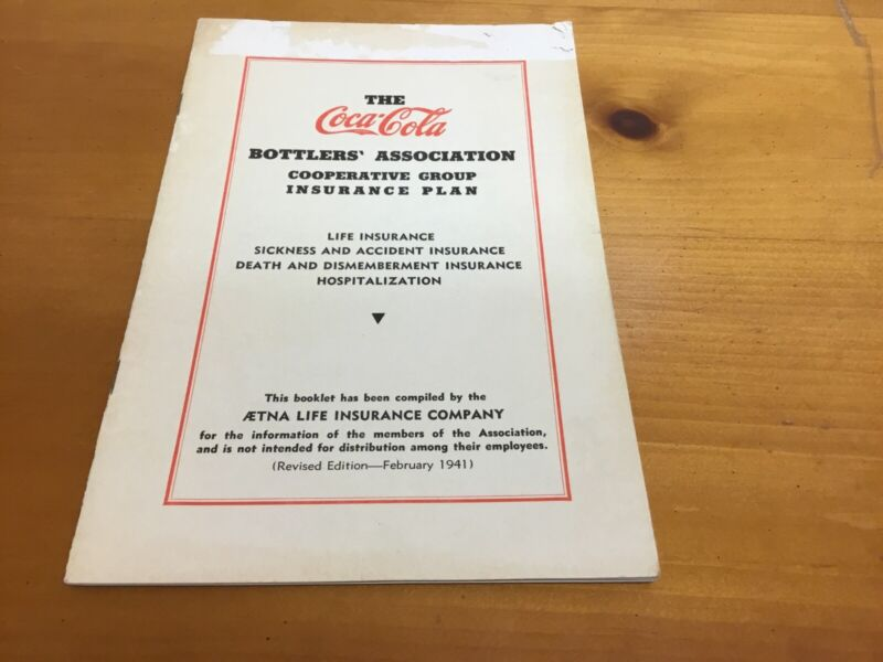 1941 Coca-Cola Bottlers' Association Group Insurance Plan